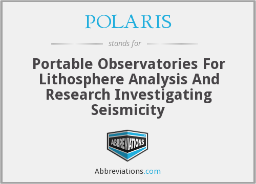 POLARIS - Portable Observatories For Lithosphere Analysis And Research Investigating Seismicity