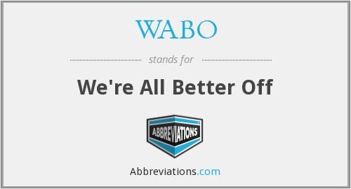 WABO - We're All Better Off