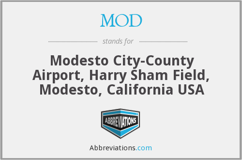 MOD - Modesto City-County Airport, Harry Sham Field, Modesto, California  USA