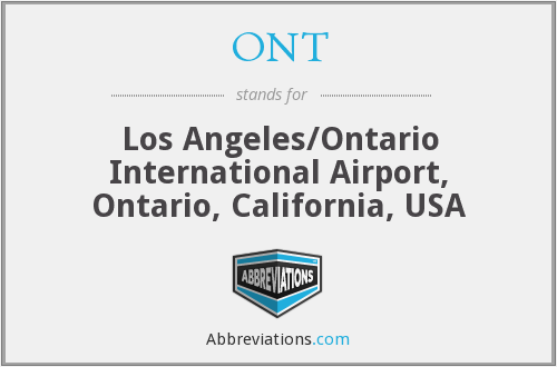 ONT - Los Angeles/Ontario International Airport, Ontario, California, USA