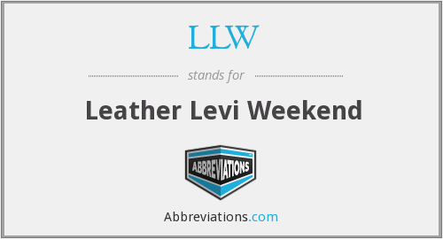 LLW - Leather Levi Weekend