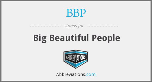 BBP - Big Beautiful People