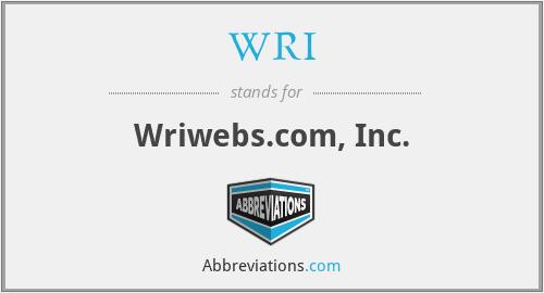 WRI - Wriwebs.com, Inc.