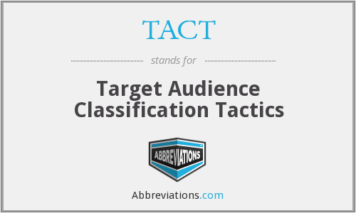 What is the abbreviation for target audience classification tactics?