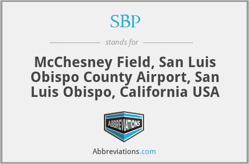 SBP - McChesney Field, San Luis Obispo County Airport, San Luis Obispo, California USA