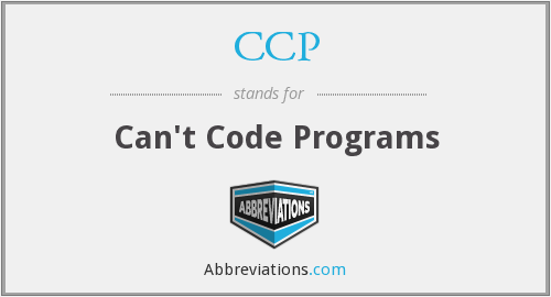 CCP - Can't Code Programs