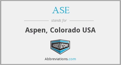 ASE - Aspen, Colorado USA