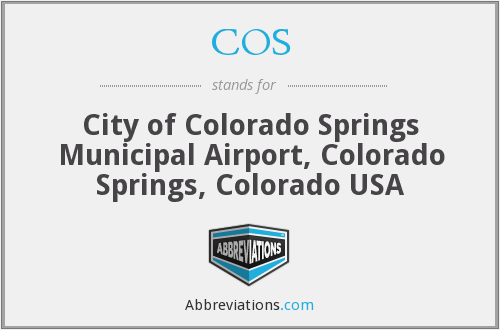 COS - City of Colorado Springs Municipal Airport, Colorado Springs, Colorado USA