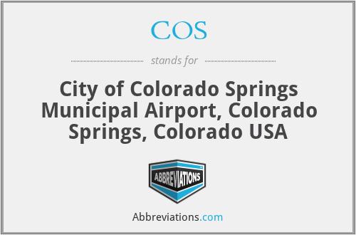COS - City of Colorado Springs Municipal Airport, Colorado Springs, Colorado USA