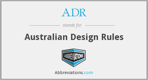 ADR - Australian Design Rules