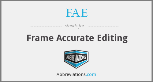 FAE - Frame Accurate Editing