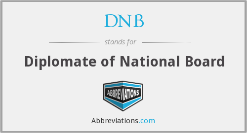 DNB - Diplomate of National Board