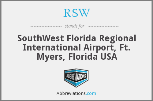 RSW - SouthWest Florida Regional International Airport, Ft. Myers, Florida USA