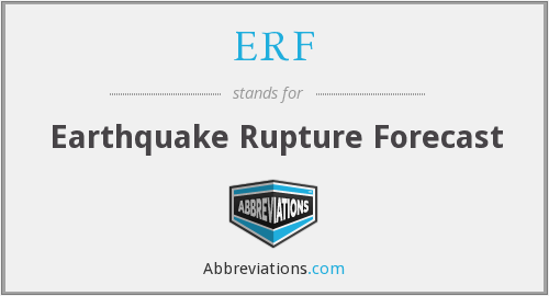 ERF - Earthquake Rupture Forecast