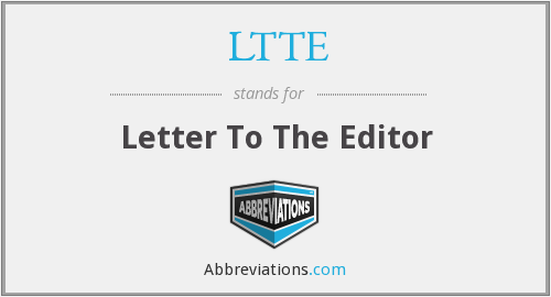 LTTE - Letter To The Editor