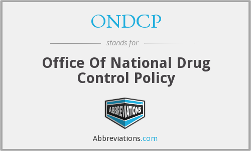 ONDCP - Office Of National Drug Control Policy