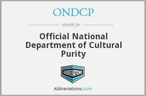 What does ONDCP stand for?