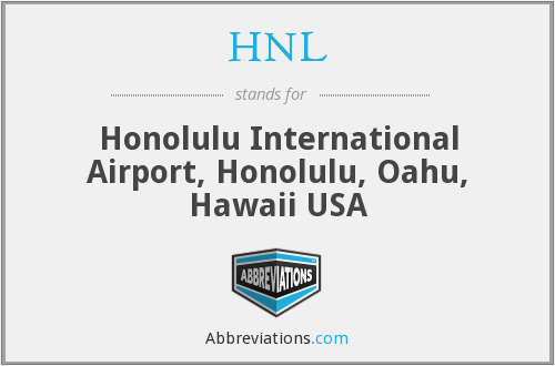 HNL - Honolulu International Airport, Honolulu, Oahu, Hawaii USA