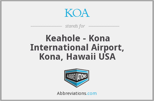 KOA - Keahole - Kona International Airport, Kona, Hawaii USA