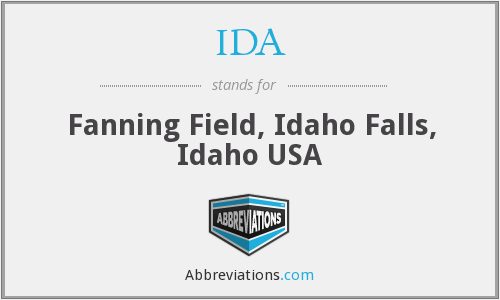 IDA - Fanning Field, Idaho Falls, Idaho USA