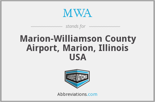 MWA - Marion-Williamson County Airport, Marion, Illinois USA