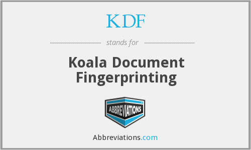 KDF - Koala Document Fingerprinting