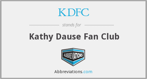 What does KDFC stand for?