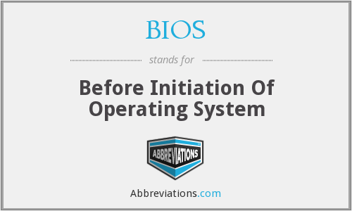 BIOS - Before Initiation Of Operating System