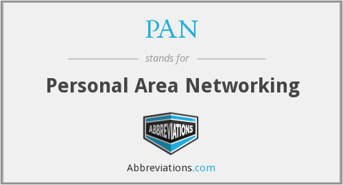 PAN - Personal Area Networking