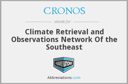 CRONOS - Climate Retrieval and Observations Network Of the Southeast