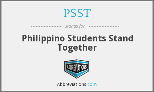PSST - Philippino Students Stand Together