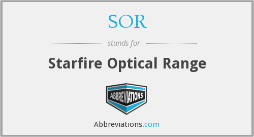 SOR - Starfire Optical Range