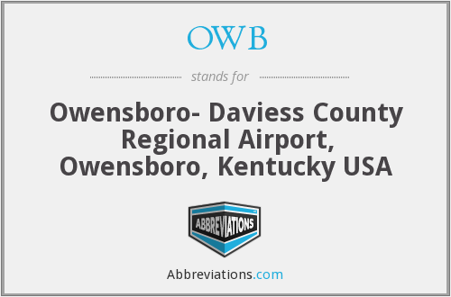 OWB - Owensboro- Daviess County Regional Airport, Owensboro, Kentucky USA