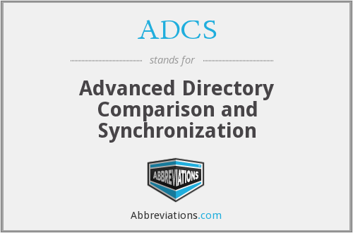 ADCS - Advanced Directory Comparison and Synchronization