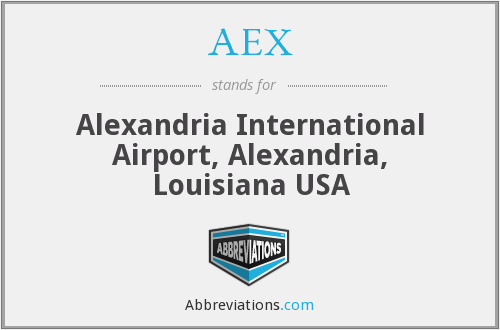 AEX - Alexandria International Airport, Alexandria, Louisiana USA