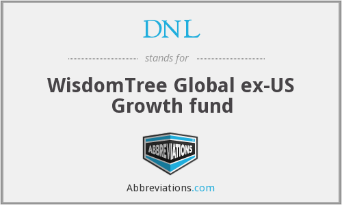 DNL - WisdomTree Global ex-US Growth fund