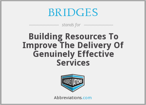 BRIDGES - Building Resources To Improve The Delivery Of Genuinely Effective Services