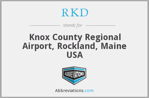 RKD - Knox County Regional Airport, Rockland, Maine USA