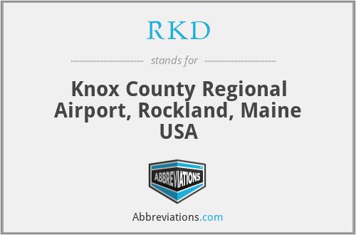 RKD - Knox County Regional Airport, Rockland, Maine USA
