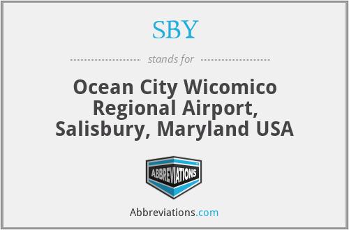 SBY - Ocean City Wicomico Regional Airport, Salisbury, Maryland USA