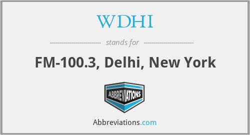 WDHI - FM-100.3, Delhi, New York