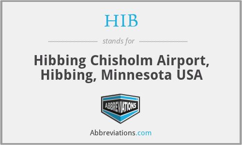 HIB - Hibbing Chisholm Airport, Hibbing, Minnesota USA