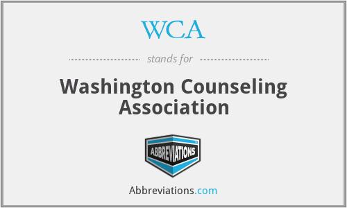 WCA - Washington Counseling Association