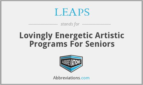 LEAPS - Lovingly Energetic Artistic Programs For Seniors