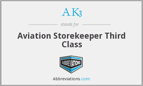 AK3 - Aviation Storekeeper Third Class