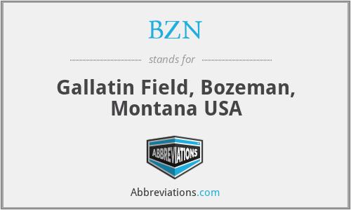 BZN - Gallatin Field, Bozeman, Montana USA