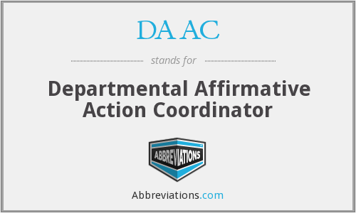 DAAC - Departmental Affirmative Action Coordinator
