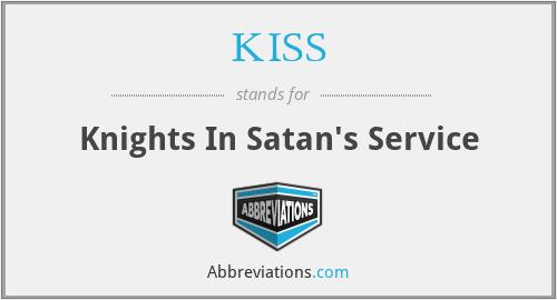 KISS - Knights In Satan's Service