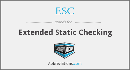 ESC - Extended Static Checking