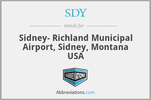 SDY - Sidney- Richland Municipal Airport, Sidney, Montana USA